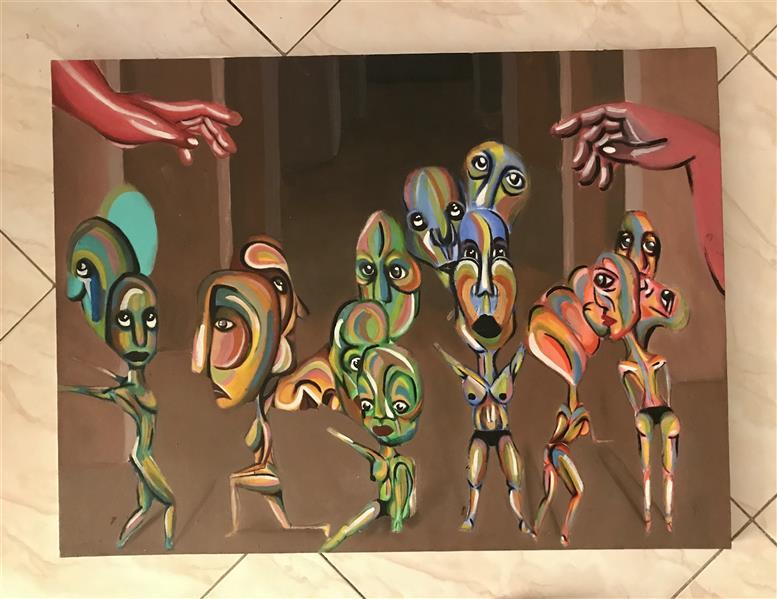 هنر نقاشی و گرافیک محفل نقاشی و گرافیک Zahra zeynali عنوان:شب اول سبک:سورئال توضیحات:کار اکریلیک روی بوم  80x60 #سورئال#سورئالیسم