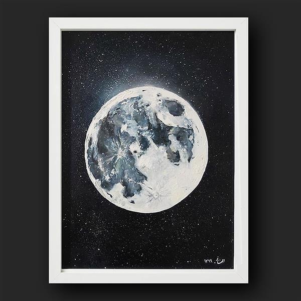 هنر نقاشی و گرافیک محفل نقاشی و گرافیک Elnaz Mirjamali #moon  نام اثر : ماه ابعاد: 30*40