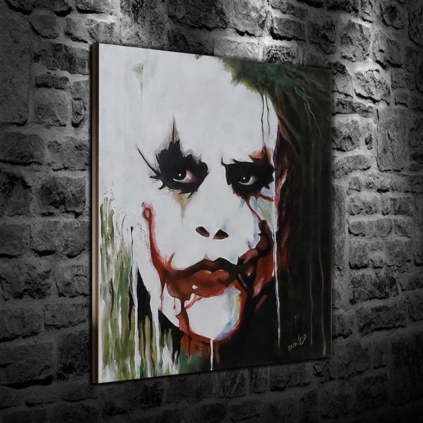 هنر نقاشی و گرافیک محفل نقاشی و گرافیک Elnaz Mirjamali #joker نام اثر: جوکر ابعاد: 40*45