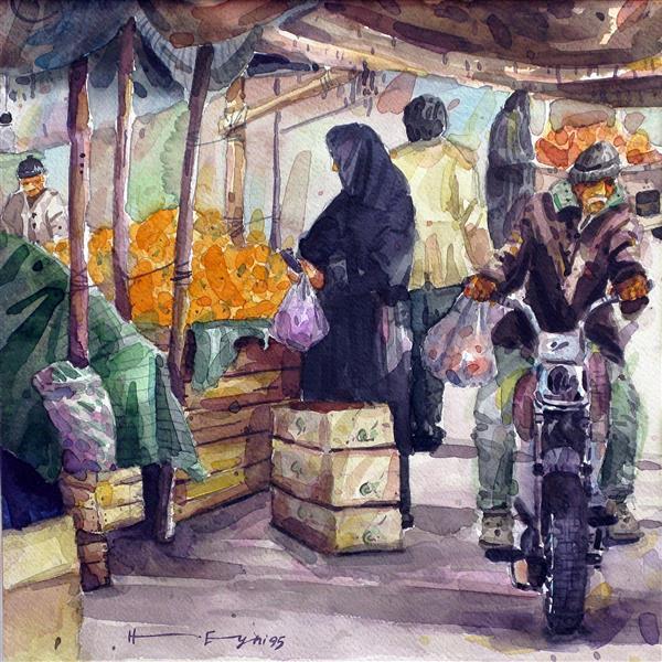 هنر نقاشی و گرافیک محفل نقاشی و گرافیک حجت اله عینی آبرنگ روی مقوا - اندازه 36*36