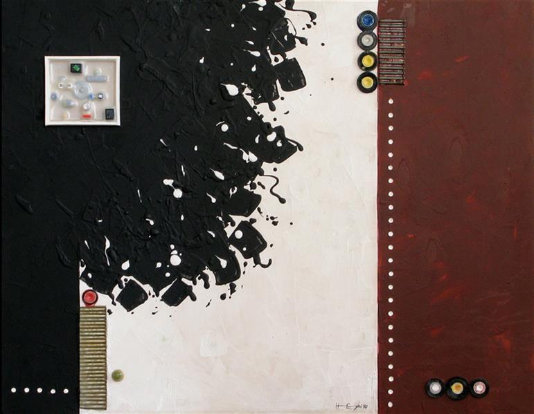هنر نقاشی و گرافیک محفل نقاشی و گرافیک حجت اله عینی ترکیب مواد روی چند لای فرانسه- اندازه 100*85 -