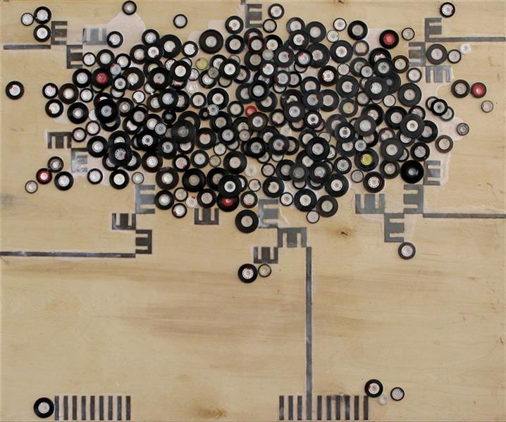 هنر نقاشی و گرافیک محفل نقاشی و گرافیک حجت اله عینی ترکیب متریال روی چند لای فرانسه - اندازه 100*85