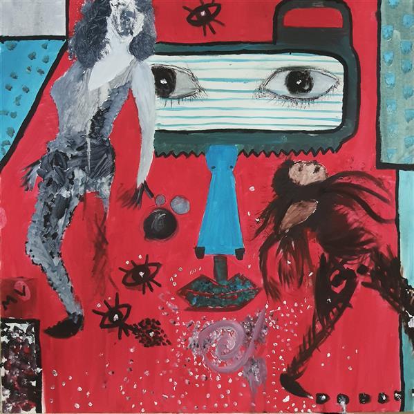 هنر نقاشی و گرافیک محفل نقاشی و گرافیک مریم وهابی نام اثر:رهایی نقاشی #رنگ_روغن روی #بوم رنگ روغن و اکرلیک