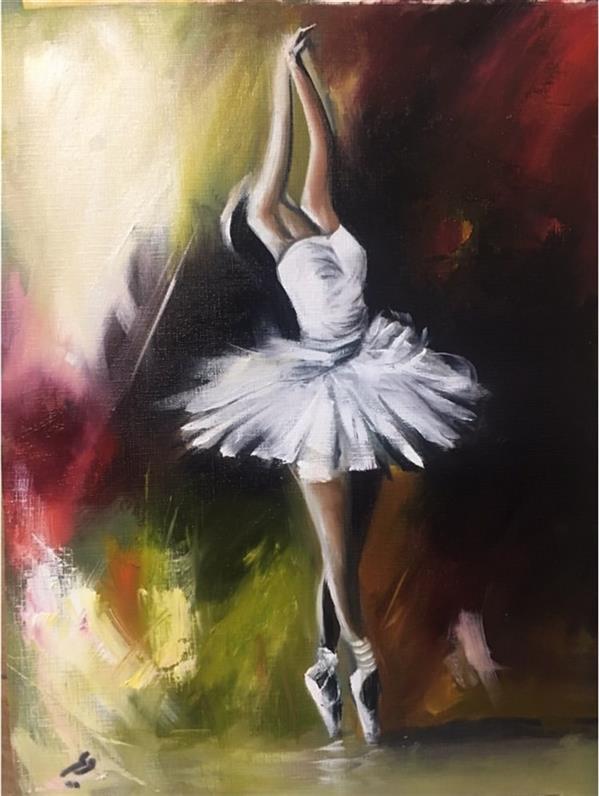 هنر نقاشی و گرافیک محفل نقاشی و گرافیک مریم حسنلو #رنگ و روغن ۳۰*۴۰ #رویای سفید