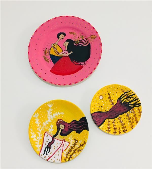 هنر نقاشی و گرافیک محفل نقاشی و گرافیک مریم حسنلو #دیوارکوب#نقش زیبا