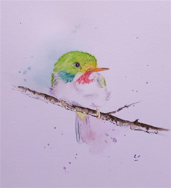 هنر نقاشی و گرافیک محفل نقاشی و گرافیک مریم ابراهیمی جمال #آبرنگ  ۱۹×۲۱
