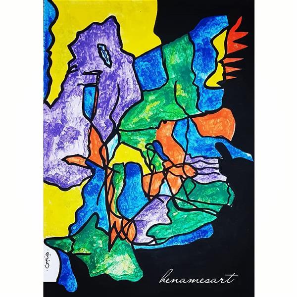 هنر نقاشی و گرافیک محفل نقاشی و گرافیک سمانه میرزاخانی تابلو ذهنی صورتک ها,آبرنگ روی مقوا, قاب شده با ابعاد  31*40 ,برگزیده در نمایشگاه #نقاشی #فروش نقاشی #هنر #هنرمند #نقاشی خاص و ذهنی