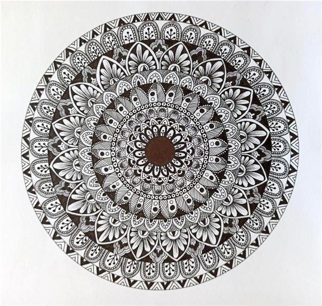هنر نقاشی و گرافیک محفل نقاشی و گرافیک زینب ابراهیم زاده ماندالا در زبان سانسکریت به معنای دایره است  وتلفیقی از شکل های هندسی و هنر است منشا این هنر در هندوستان است ابعاد اثر25*25 قابل سفارش در هر سایز #ماندالا#نقاشی_مدرن#نقاشی_ماندالا