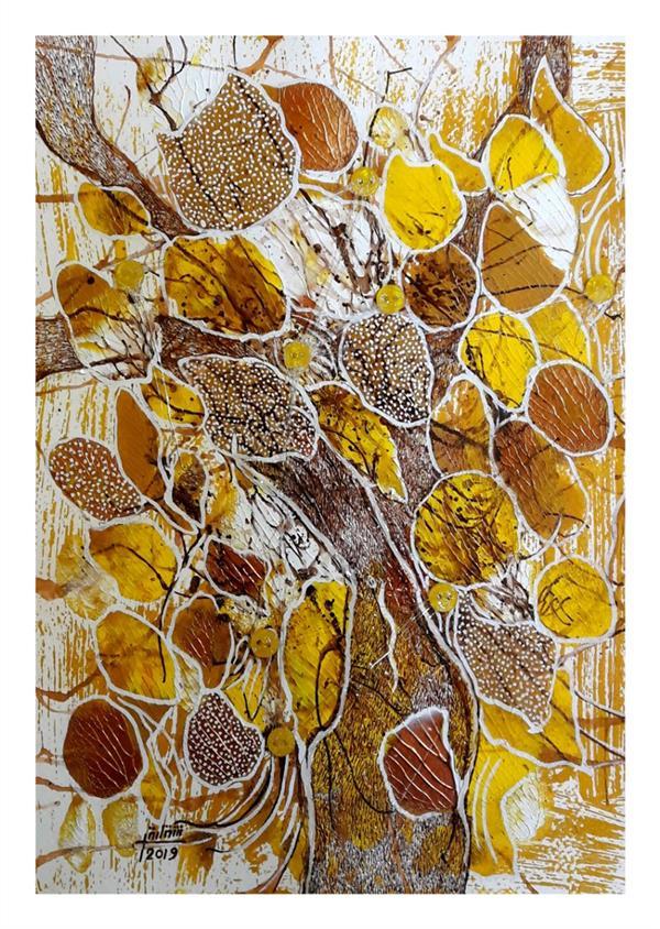 هنر نقاشی و گرافیک محفل نقاشی و گرافیک شقایق طیبی Painting by shaghayegh tayebi.35×25cm.mixedmedia on cardboard.2019