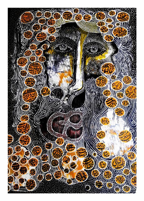 هنر نقاشی و گرافیک محفل نقاشی و گرافیک شقایق طیبی Painting by shaghayegh tayebi.70×50cm.mixedmedia on cardboard.2019