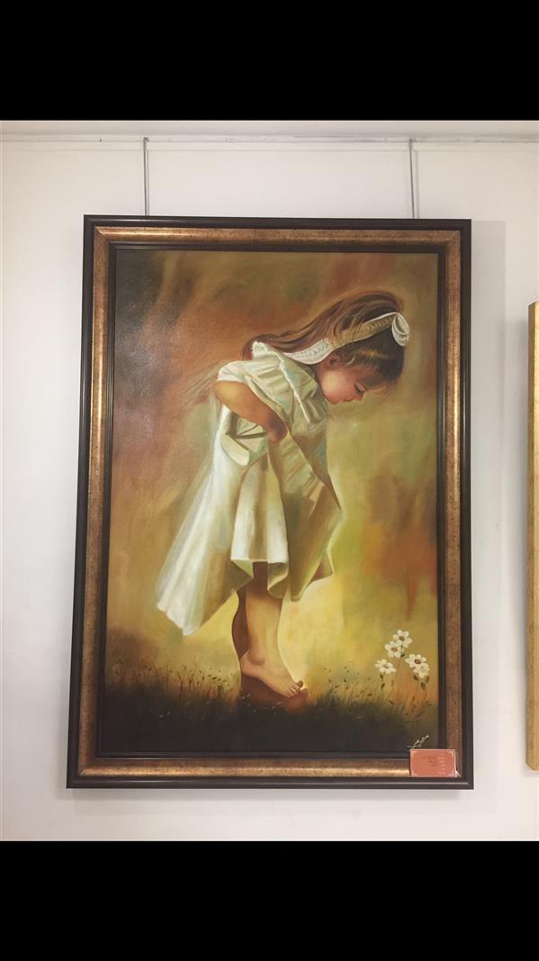 هنر نقاشی و گرافیک محفل نقاشی و گرافیک ماریا محمودی #پرتره#رنگ#روغن#دختر#بچه#دخترک