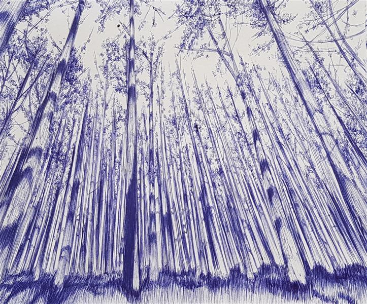 هنر نقاشی و گرافیک محفل نقاشی و گرافیک Mobinaheydari جنگل،تکنیک خودکار
