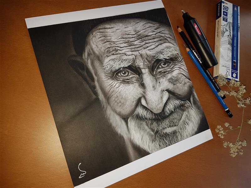 هنر نقاشی و گرافیک محفل نقاشی و گرافیک Mobinaheydari تکنیک سیاه قلم،سبک هایپررئال