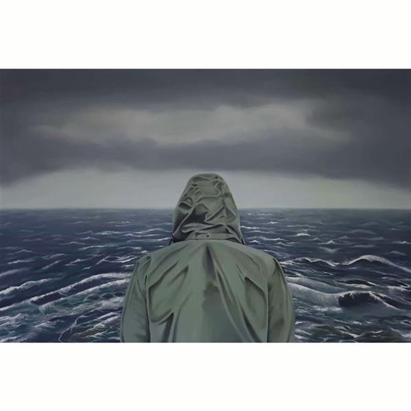 هنر نقاشی و گرافیک محفل نقاشی و گرافیک Mobinaheydari نام اثر:دریای تنها رنگ روغن،ابعاد ۱.۲۰در ۸۰