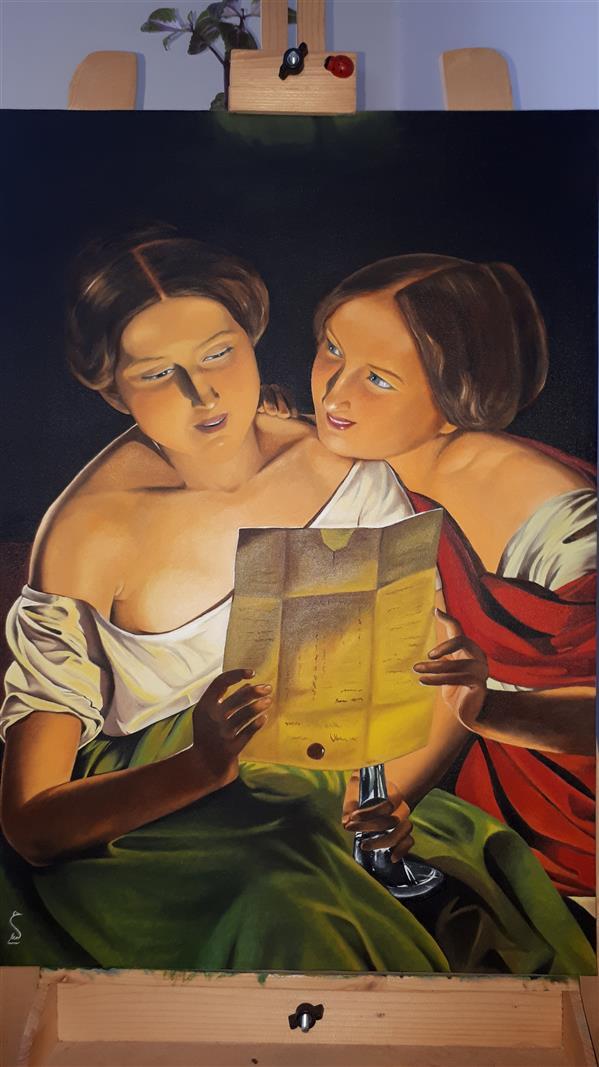 هنر نقاشی و گرافیک محفل نقاشی و گرافیک Mobinaheydari تکنیک رنگ روغن،ابعاد ۵۰در ۷۰سانتی متر،سبک کلاسیک