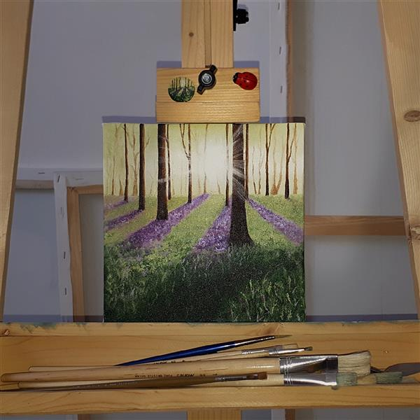 هنر نقاشی و گرافیک محفل نقاشی و گرافیک Mobinaheydari نام اثر:بیشه نور،تکنیک رنگ روغن،ابعاد۲۰در۲۰