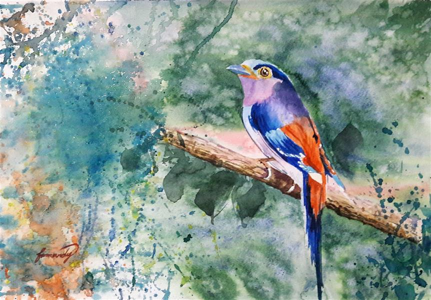 هنر نقاشی و گرافیک محفل نقاشی و گرافیک Fatemeh_Farmandi فاطمه فرمندی  نقاشی آبرنگی  ابعاد:35×50 عنوان: باغ رویا