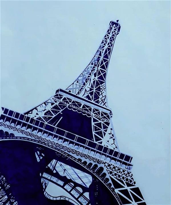 هنر نقاشی و گرافیک محفل نقاشی و گرافیک Mobinafathalian برج ایفل با خودکار