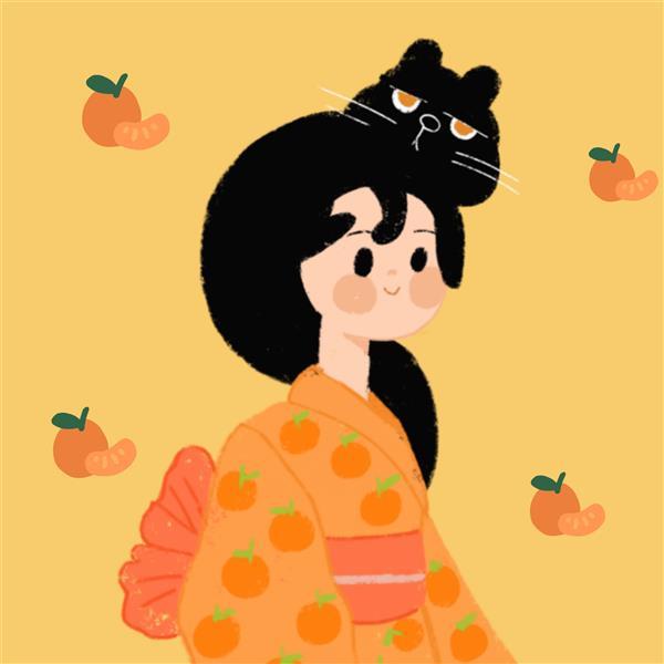 هنر نقاشی و گرافیک محفل نقاشی و گرافیک ملیکا عاملی دختري در يوكوتا -نقاشي شده در گوشي #ديجيتال  #فانتزي