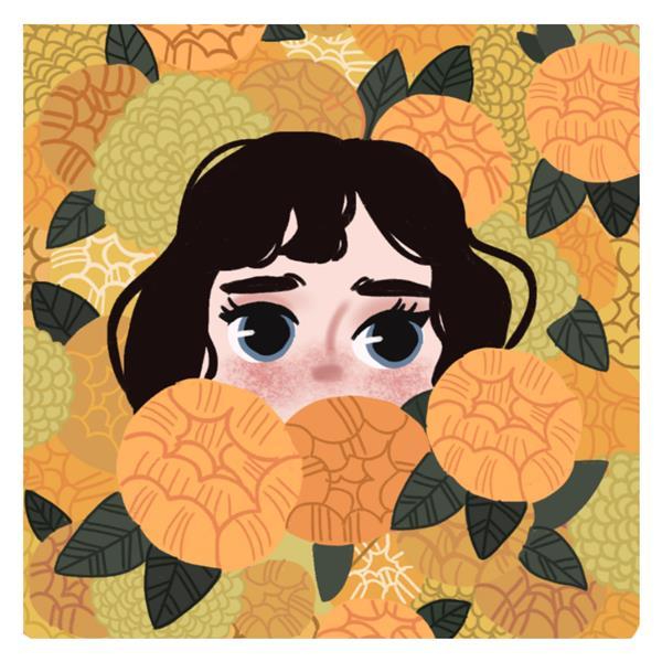 هنر نقاشی و گرافیک محفل نقاشی و گرافیک ملیکا عاملی دختري در ميان گل  نقاشي ديجيتال در گوشي