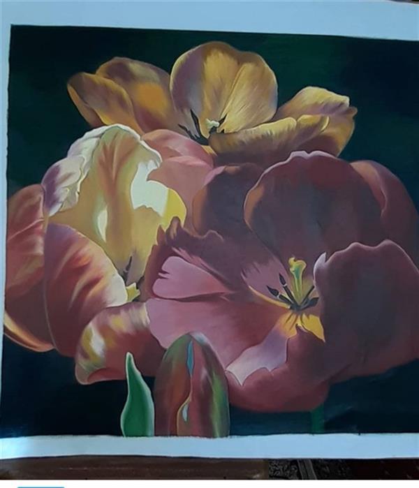 هنر نقاشی و گرافیک محفل نقاشی و گرافیک نسیم ترکمان تابلوی بهار#ابعاد70×72#رنگ روغن#روی بوم#اثر از نسیم ترکمان