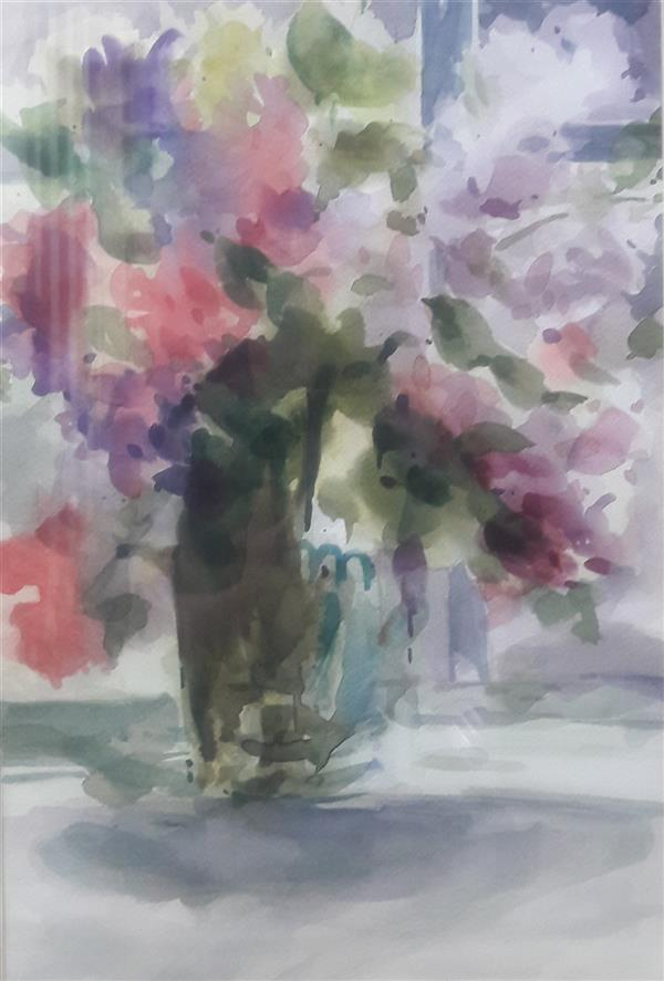 هنر نقاشی و گرافیک محفل نقاشی و گرافیک مریم مهدوی ابرنگ همراه با قاب