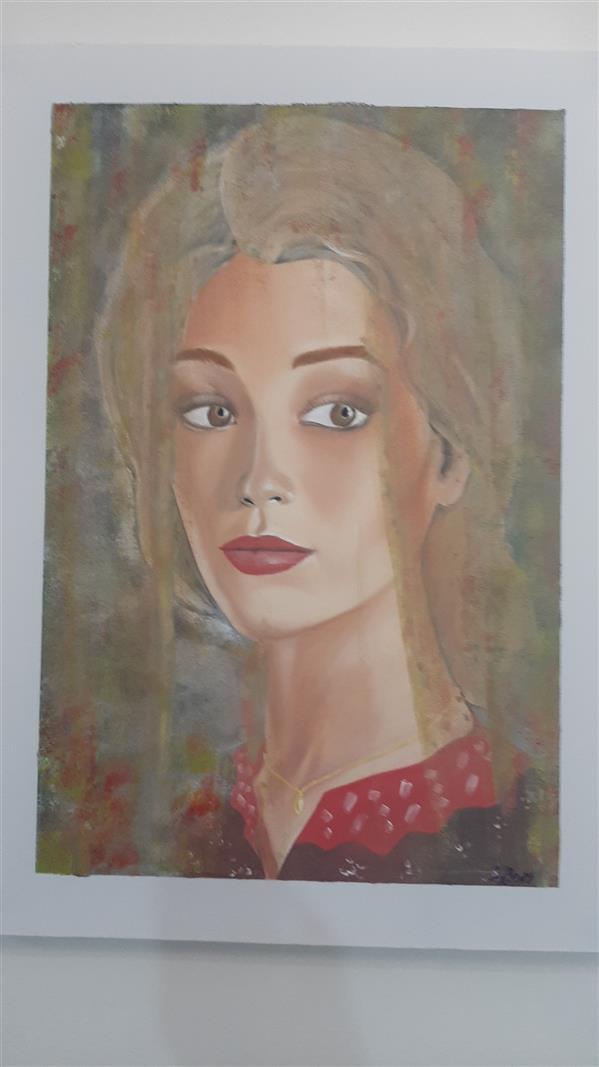 هنر نقاشی و گرافیک محفل نقاشی و گرافیک حاجیوند #پرتره #چهره رنگ روغن روی بوم ۷۰ در ۵۰