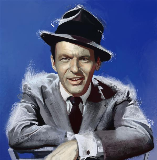 هنر نقاشی و گرافیک محفل نقاشی و گرافیک رضا باقری Digital Paint of Frank Sinatra
