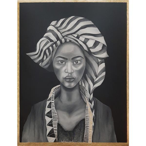 هنر نقاشی و گرافیک محفل نقاشی و گرافیک نادیا صبوری  تابلو نقاشی رنگ روغن طرح دختر سیاه پوست روی بوم کار شده است. ابعاد اثر ۶۰ در ۸۰ می باشد.