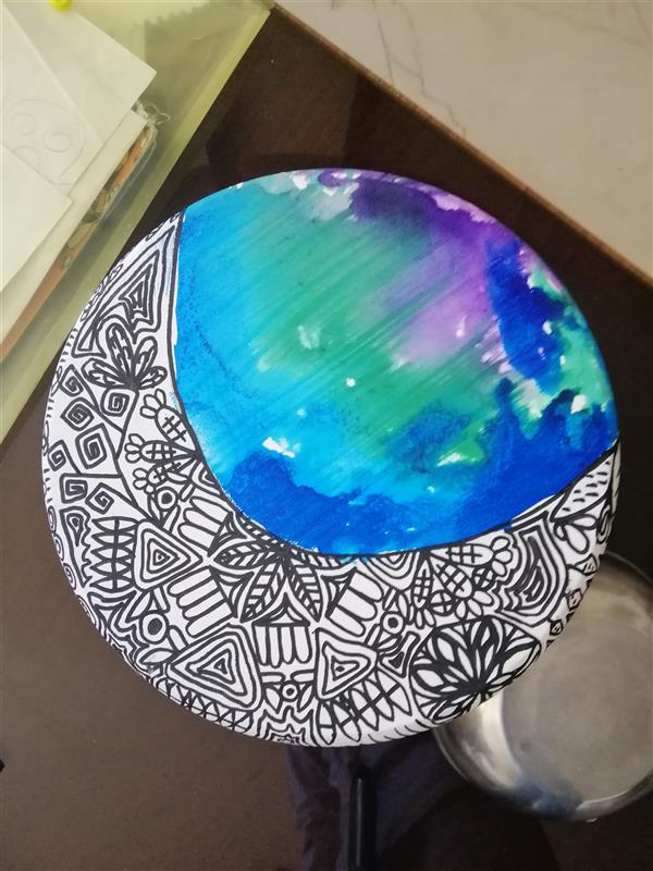 هنر نقاشی و گرافیک محفل نقاشی و گرافیک سپهر ابراهیمی  بوم نقاشی طرح ماه