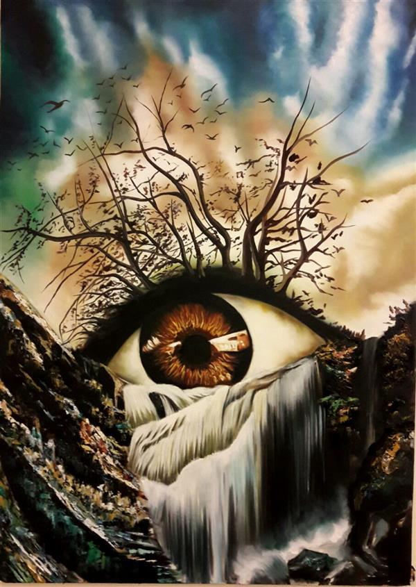 هنر نقاشی و گرافیک محفل نقاشی و گرافیک لیلا اسلامی رنگ روغن سورئال 50در70