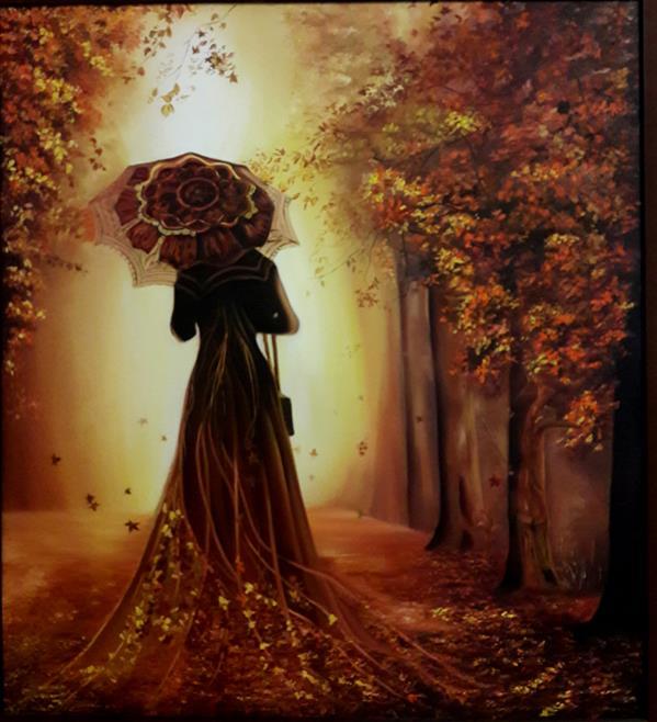 هنر نقاشی و گرافیک محفل نقاشی و گرافیک لیلا اسلامی پاییز رنگ روغن 100در90