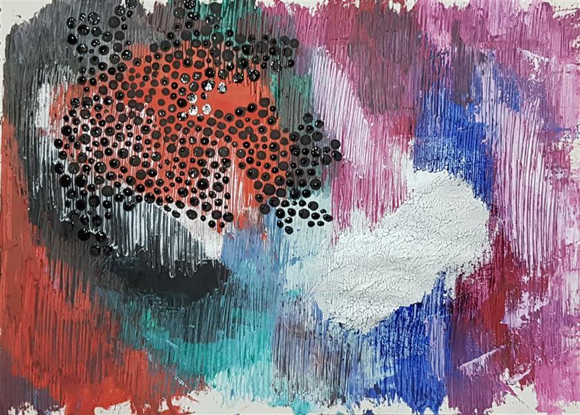 هنر نقاشی و گرافیک محفل نقاشی و گرافیک سباکرمی ابعاد_29/7×21 cm (ابعاد قاب و پاسپارتو لحاظ نشده است ابعاد ذکرشده صرفا ابعاد خود اثر هستند.) متریال_ رنگ روغن و اکرلیک نام اثر_ سوشانت نام هنرمند_ سبا کرمی