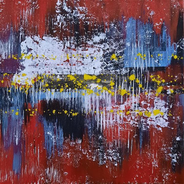 هنر نقاشی و گرافیک محفل نقاشی و گرافیک سباکرمی متریال-اکلریک سال خلق-1400 نام اثر- red نام هنرمند-سباکرمی