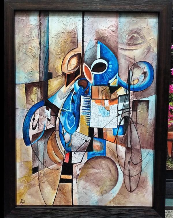 هنر نقاشی و گرافیک محفل نقاشی و گرافیک  الهام باقری تابلو :مدرن میکس مدیا،تکنیک: اکرولیک برجسته. #نقاشی#فروش_تابلو#فروش_نقاشی#100honar#