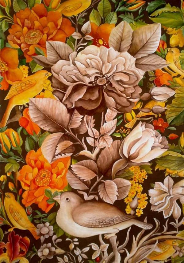 هنر نقاشی و گرافیک محفل نقاشی و گرافیک  الهام باقری تابلو:گل ومرغ،تکنیک:آبرنگ #نقاشی#آبرنگ#نقاشی_فروشی#فروش_تابلو#الهام_باقری#100honar#art_elhambagheri