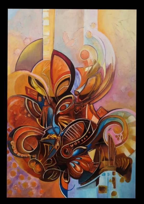 هنر نقاشی و گرافیک محفل نقاشی و گرافیک  الهام باقری تابلو:مدرن میکس مدیا تکنیک:اکرولیک برجسته. #نقاشی#تابلو_نقاشی#نقاشی_فروشی#100honar#الهام_باقری#
