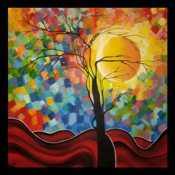 هنر نقاشی و گرافیک محفل نقاشی و گرافیک  الهام باقری تابلو:مدرن.تکنیک:اکرولیک #نقاشی#تابلو_نقاشی#نقاشی_فروشی#100honar#الهام_باقری#