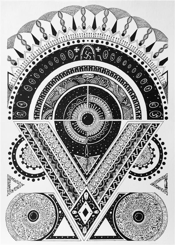 هنر نقاشی و گرافیک محفل نقاشی و گرافیک آریان فرجیان نام اثر: Mysterious Nightmare تاریخ انتشار : 2020 طراحی روی کاغذ - راپید - سبک آزاد سایز: ارتفاع : 30 - عرض : 21 ( سانتی متر )