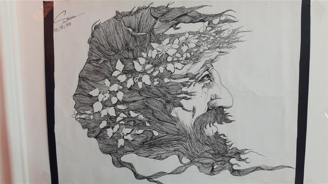 هنر نقاشی و گرافیک محفل نقاشی و گرافیک Shiva hoseini مقوای A3,طرح پیرمرد جنگل نشین.