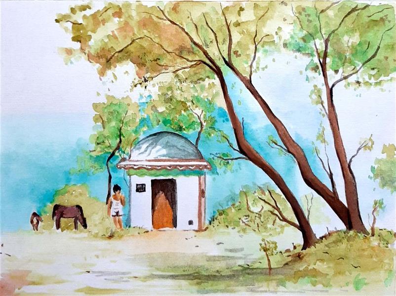 هنر نقاشی و گرافیک محفل نقاشی و گرافیک Elham fadaei #نقاشی #آبرنگ  #watercolor