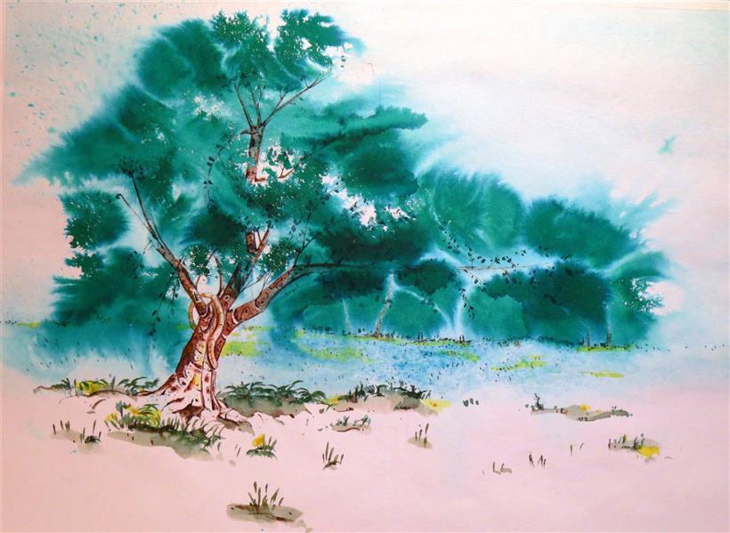 هنر نقاشی و گرافیک محفل نقاشی و گرافیک مرتضی عابدی #ابعاد70×50 #متریال آبرنگ
