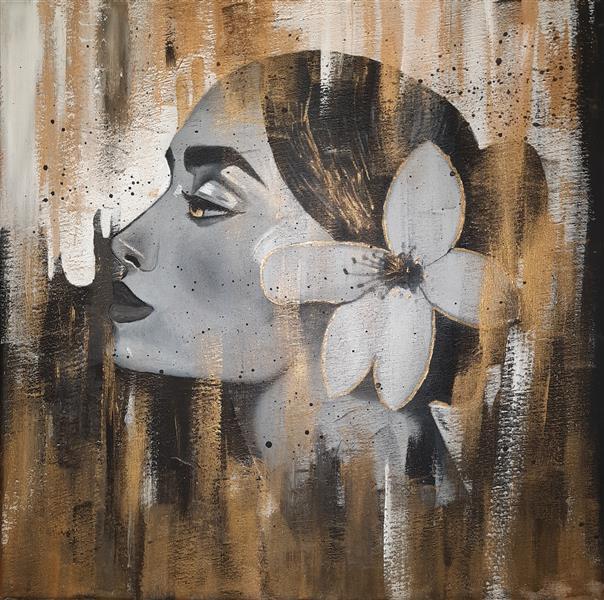 هنر نقاشی و گرافیک محفل نقاشی و گرافیک زهرا سلیم پور تابلو چهره  رنگ روغن روی بوم ابعاد ۳۰ در ۳۰
