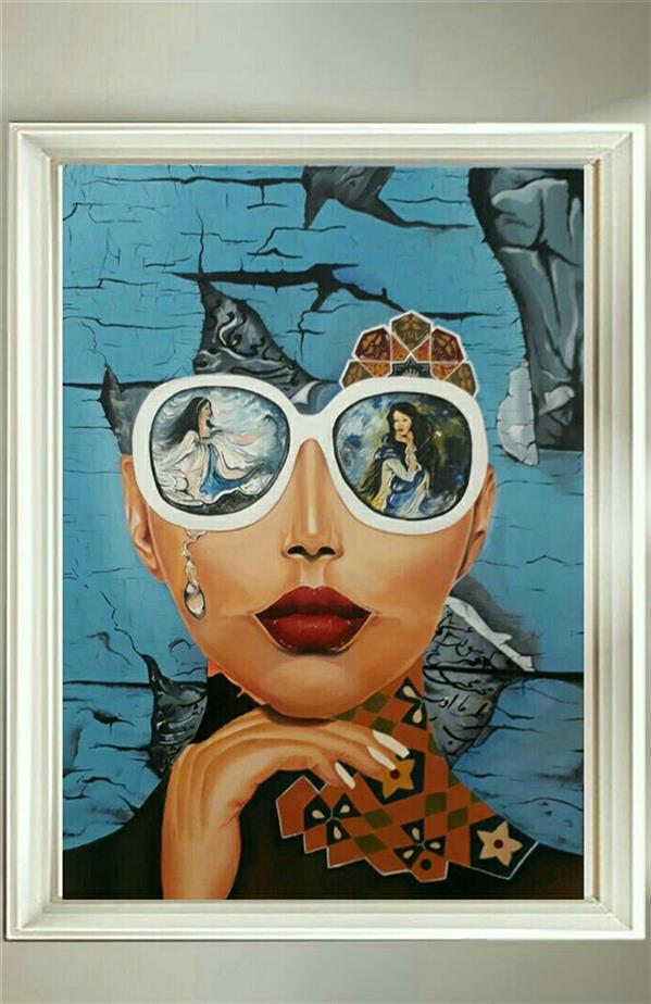 هنر نقاشی و گرافیک محفل نقاشی و گرافیک فرانک رزاقی نگرش ایرانی تکنیک رنگ روغن ابعاد ۷۰×50 هنرمند فرانک رزاقی