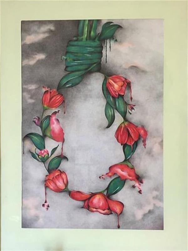 هنر نقاشی و گرافیک محفل نقاشی و گرافیک تانیا سرخی مداد رنگی پلی کروم ,روی کاغذ بهمراه پاسپارتو , قاب چوبی و شیشه محافظ اثر.در ابعاد 40*30