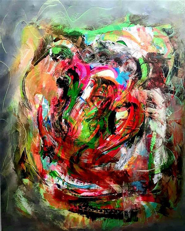 هنر نقاشی و گرافیک محفل نقاشی و گرافیک  منوچهر کاشفی #آبستره #اکسپرسیونیسم ابعاد ۱۰۰×۸۰ - اکریلیک روی بوم منوچهر کاشفی