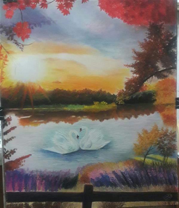 هنر نقاشی و گرافیک محفل نقاشی و گرافیک فائزه تواضعی #پاستلگچی #فائزهتواضعی