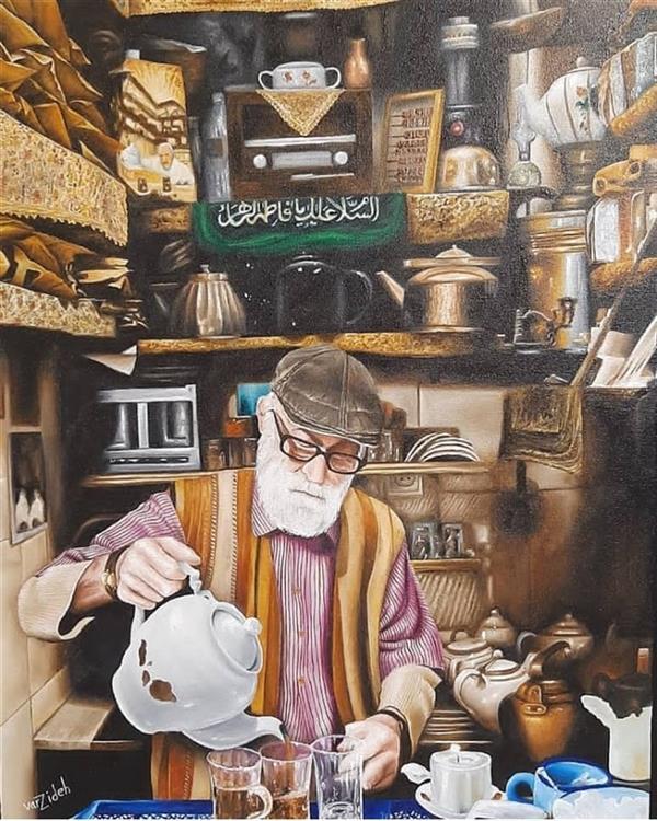 هنر نقاشی و گرافیک محفل نقاشی و گرافیک Vahid varzideh  #نقاشی روی بوم # تکنیک رنگ روغن # سبک هایپررئال #نام اثر چاپخانه #سال تولید ۱۳۹۹