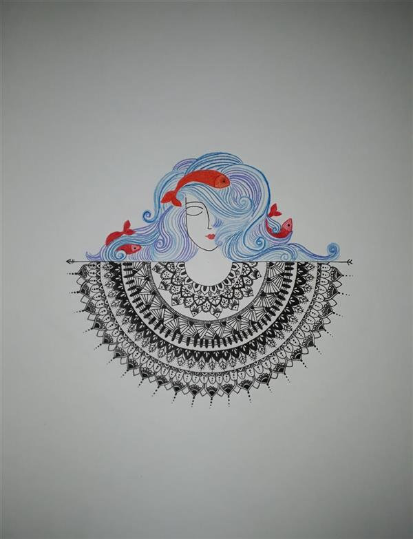 هنر نقاشی و گرافیک محفل نقاشی و گرافیک تارا سلیمانی #راپید#فابریانو#1399#ماندالا