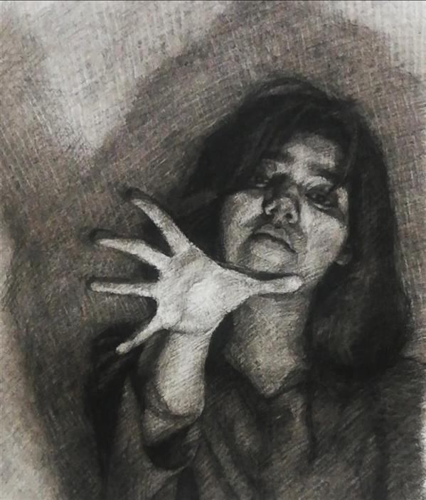 هنر نقاشی و گرافیک محفل نقاشی و گرافیک Elnaz zare تکنیک: زغال روی کاغذ